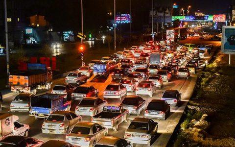 ترافیک فوق سنگین در محور شرقی تهران