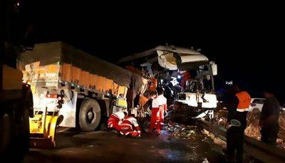 تصادف دو خودروی سنگین