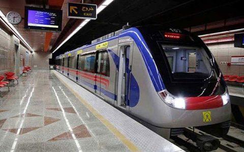 توقف قطار متروی تهران در پی نقص فنی