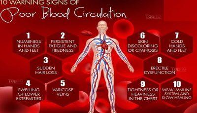 خطرناکترین عوارض گردش خون ضعیف در بدن