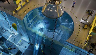 ساخت بزرگترین و عمیقترین استخر جهان برای فضانوردان
