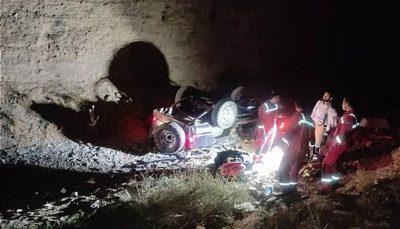 سقوط مرگبار پاترول به دره در سعادتآباد