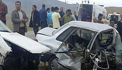 مرگ 5 عضو خانواده در تصادف