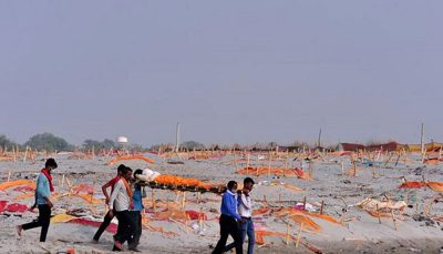 هجوم سگهای ولگرد به اجساد کرونایی در هند