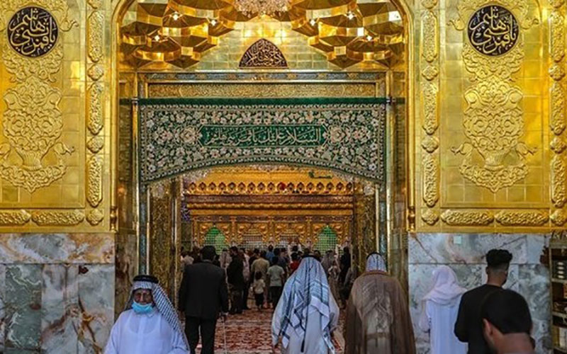 ورودیها به سمت ضریح حرم حضرت عباس (ع) تکمیل شد