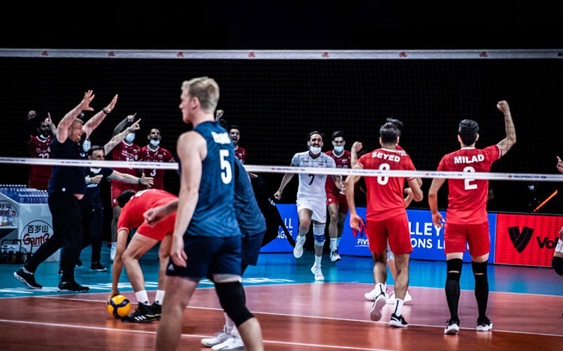 پرمعناترین تصویر دیدار والیبال ایران و آمریکا