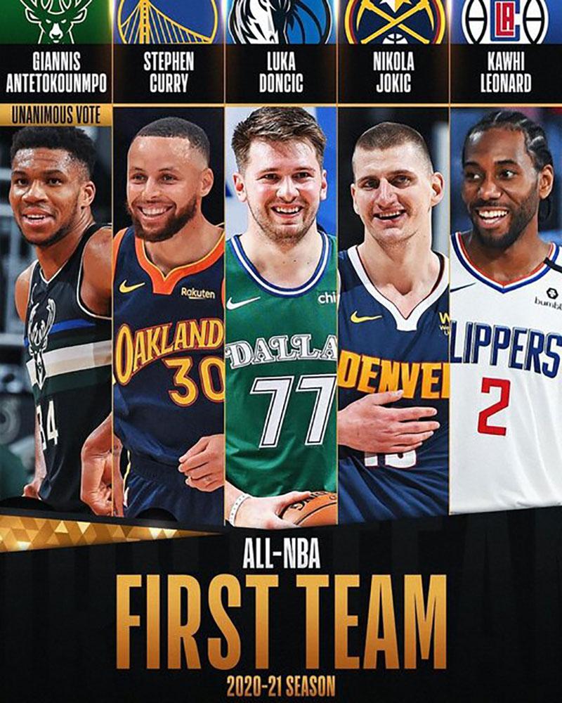 تیمهای منتخب فصل NBA مشخص شد