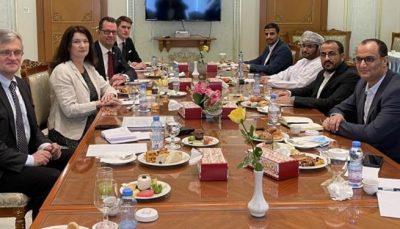 وزیر خارجه سوئد با سخنگوی جنبش انصارالله در عمان دیدار کرد