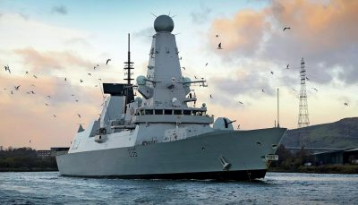 تیراندازی کشتی روسی به سوی ناوشکن انگلیسی