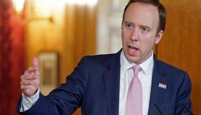وزیر بهداشت انگلیس استعفا داد