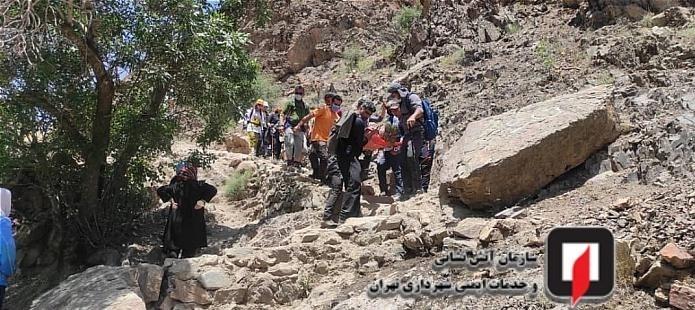 کشف جسد مرد میانسال در ارتفاعات درکه / تصاویر