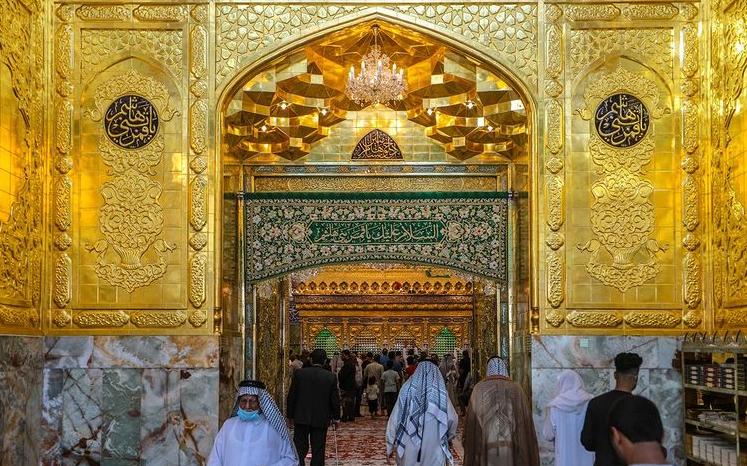 ورودیها به سمت ضریح حرم حضرت عباس (ع) تکمیل شد/عکس