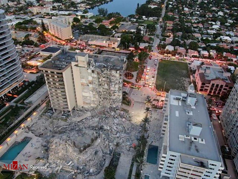 ریزش ساختمان- میامی
