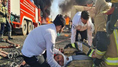 مهار کامل آتش سوزی پالایشگاه تهران
