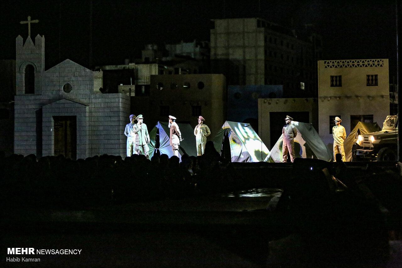 اجرای نمایش بزرگ «ارض الشمس» در شهر سیده زینب سوریه