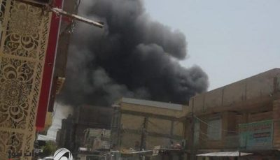 آتش سوزی شدید در نجف