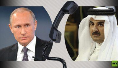 گفتگوی تلفنی پوتین و امیرقطر درباره جام جهانی فوتبال ۲۰۲۲