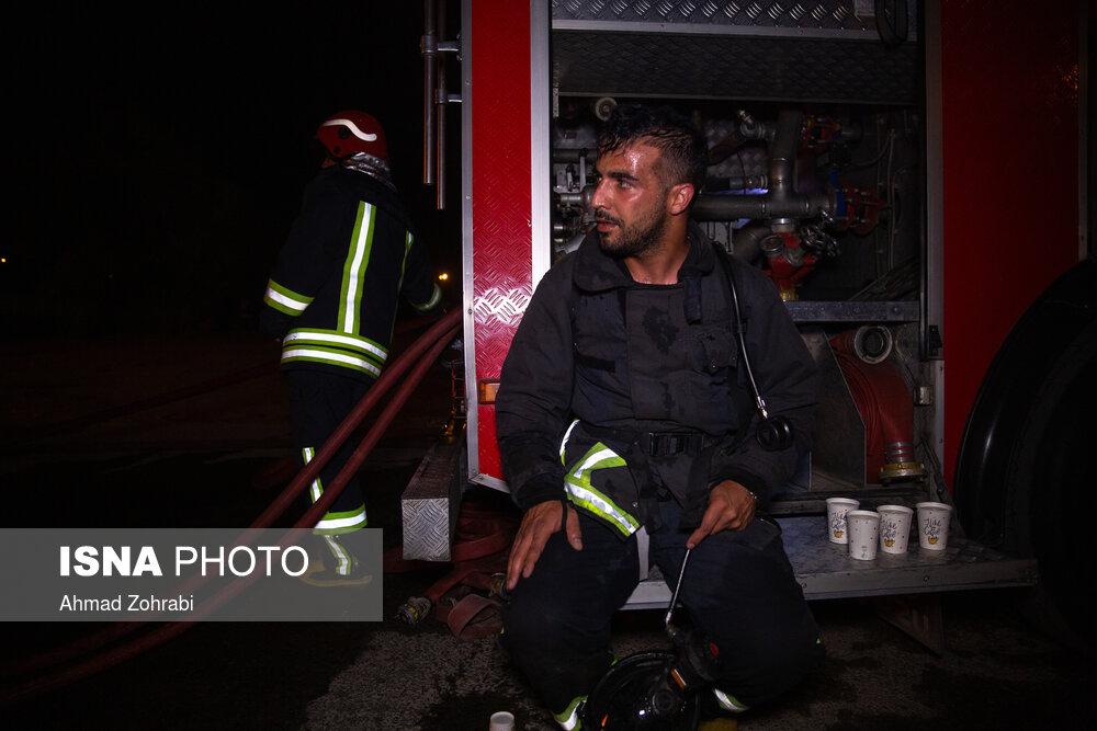 انفجار و آتش سوزی کارگاه شارژ سلیندرهای گاز مایع - قم