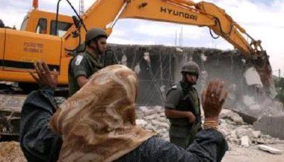 اخطاریه های رژیم صهیونیستی برای تخریب خانه های فلسطینیان