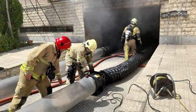 آتشسوزی در یک ساختمان مسکونی