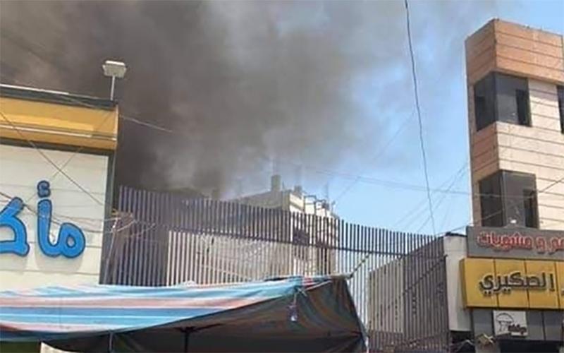 آتشسوزی مکان تجاری در کاظمین عراق