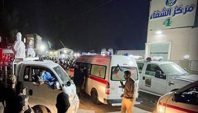 افزایش شمار قربانیان آتش سوزی بیمارستان عراق به ۱۲۴ نفر
