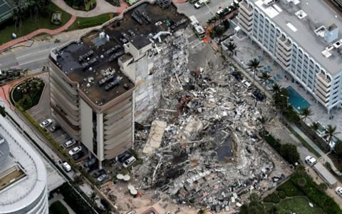 افزایش شمار قربانیان حادثه ریزش ساختمان در میامی