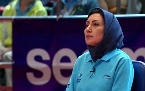 بانوی ایرانی، قاضی نیمه نهایی تنیس روی میز
