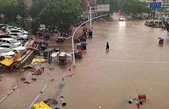 تصاویر هوایی از شهر سیلزده «ژنگجو» چین