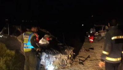 دو کشته در تصادف پراید با شتر