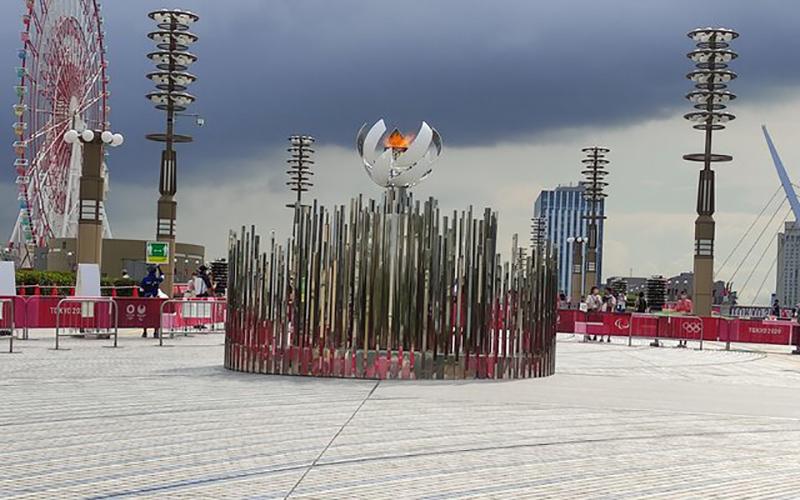مشعل المپیک توکیو را کجا بردند؟