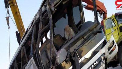 واژگونی اتوبوس در جاده هراز