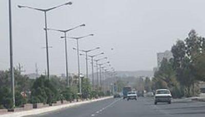 وزش باد و خیزش گرد و خاک در تهران