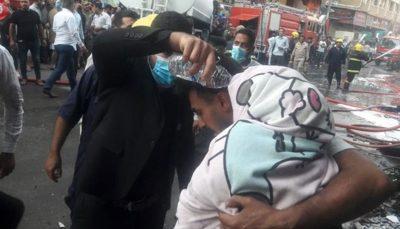 وقوع آتشسوزی در هتلی در استان کربلا