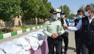 کشف یک تن و ۷۵۰کیلوگرم موادمخدر در غرب تهران