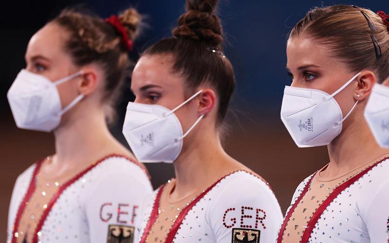 لباس پوشیده تیم ژیمناستیک زنان آلمان / عکس