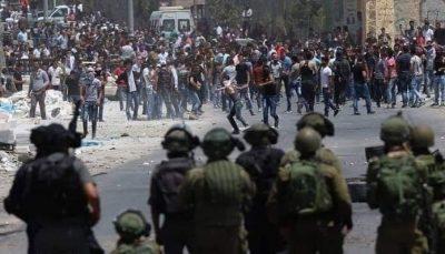 درگیریهای شدید اشغالگران رژیم صهیونیستی با فلسطینیان در نابلس