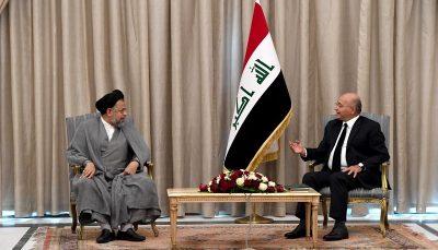 دیدار وزیر اطلاعات با رئیس جمهور عراق