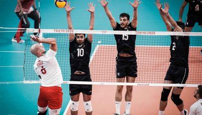 والیبال ایران به سختی لهستان را شکست داد