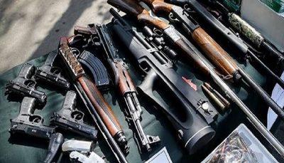 کشف سلاح های جنگی و شکاری غیر مجاز در تهران