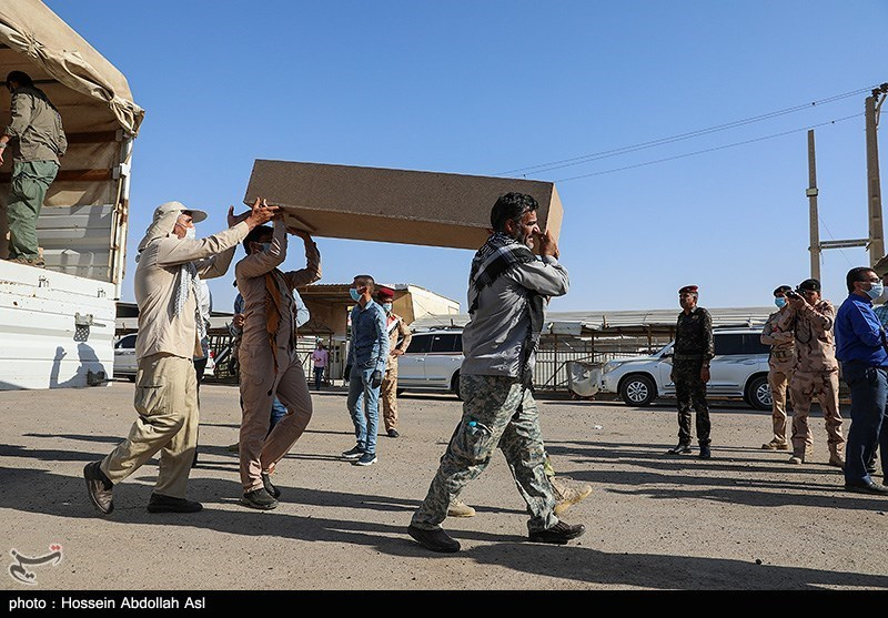 ورود پیکر مطهر ۴۳ شهید تفحص شده به میهن اسلامی
