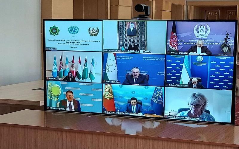 ویدئو کنفرانس کشورهای آسیای مرکزی در مورد افغانستان