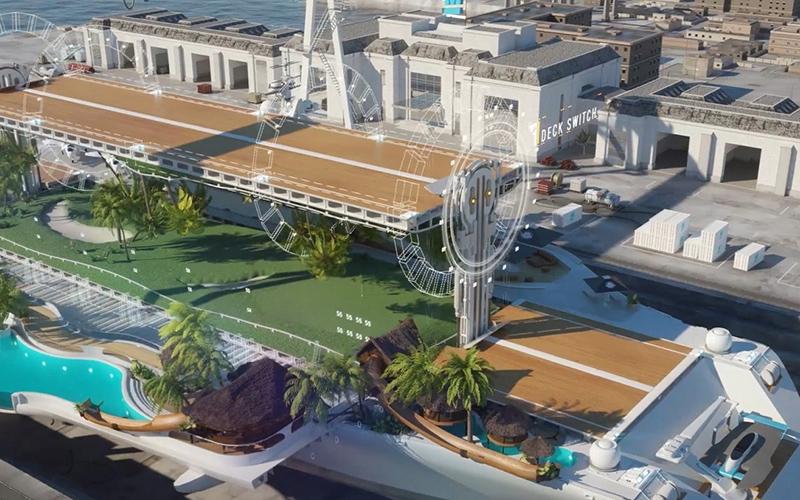 تبدیل یک ناو هواپیمابر به کشتی تفریحی برای نخستین بار در جهان/ عکس
