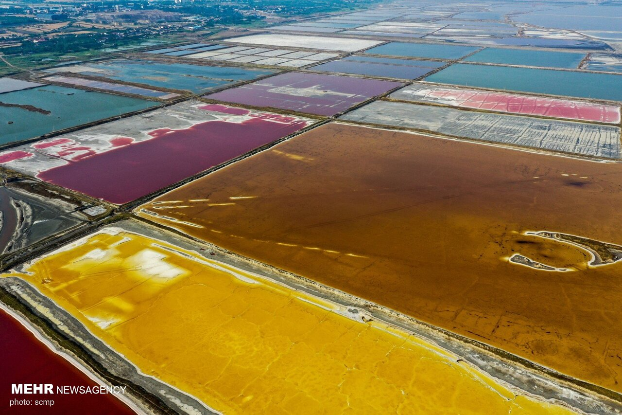 تصاویر هوایی از دریای مرده چین