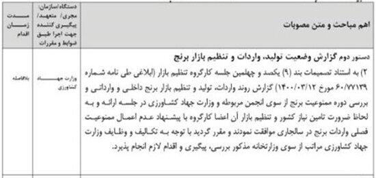 ممنوعیت فصلی واردات برنج لغو شد