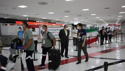 ورزشکاران ایران وارد توکیو شدند