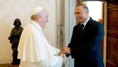دیدار نخست وزیر عراق با رهبر مسیحیان کاتولیک جهان