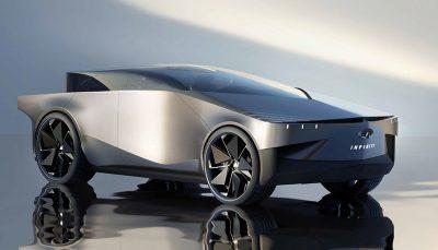 اینفینیتی QX90 مدل 2028؛ کپی جالبی از سایبرتراک کمپانی تسلا