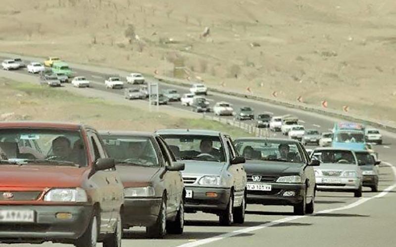 ترافیک سنگین در محورهای قزوین- تهران و کرج- قزوین