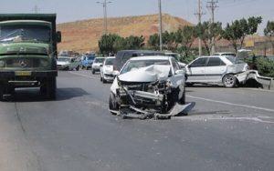 تصادف تریلی با ۱۳ خودرو در جاجرود